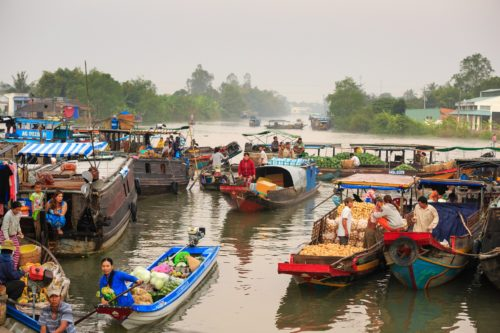 Floating market on the river